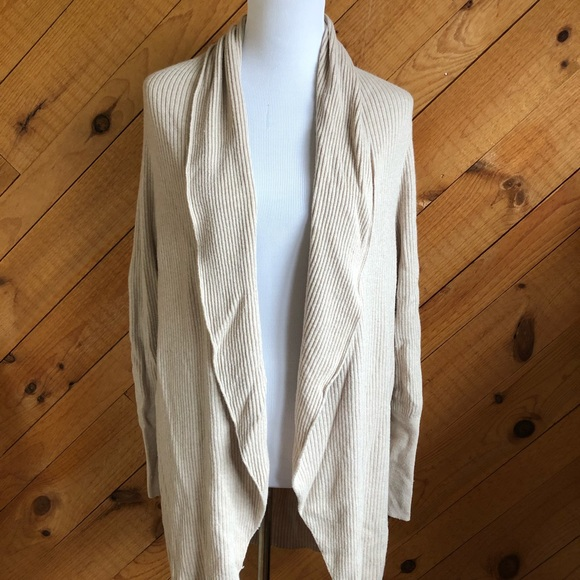 Leith Circle Cardigan size Large - Cream color